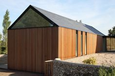 VW + BS Architecture & Design - cedar cladding at De la Beche Manor Studios Architecture, Architecture Details, Modern Architecture, Cedar Cladding, House Cladding, Modern Barn House, Timber House, Roof Design, Exterior Design
