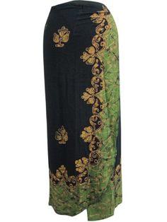 Bohemian Long Wrap Skirt Black Green Batik Print Hippie Indie Beach Dress Wrap Around Skirt mogulinterior,http://www.amazon.com/dp/B00DJ32S4Q/ref=cm_sw_r_pi_dp_3HjXrb0354994DA4