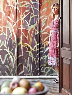 Incontro con la designer Elena Carozzi marieclaireita Marie Claire, Curtains, Shower, Prints, Design, Botany, Rain Shower Heads, Blinds