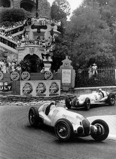 Mercedes Grand Prix cars Monaco (?) 30's