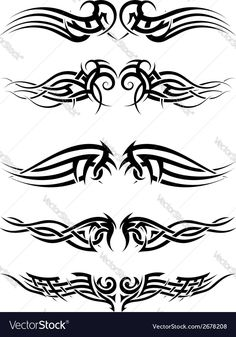 Tribal tattoos Vector Image by angelp