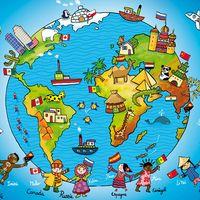 Voilà, tout est dans le titre. Les cycles 2 de mon école ont la bougeotte et une folle envie de repartir en voyage autour du monde: le thème est très porteur auprès des enfants. Nous avons... Kids Homework, Les Continents, History Activities, Felt Books, Preschool Education, Travel Party, Teaching French, World Peace, Learn French