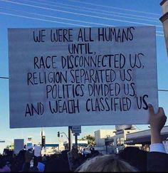 I'm not saying religion or anything is bad...but it separated us and divided us from seeing who WR as ppl really are and not just who or what we believe in
