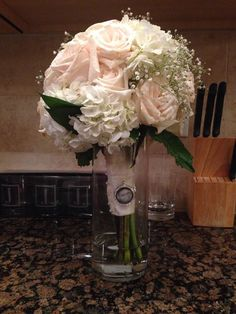 White Roses Carnation Arrangement