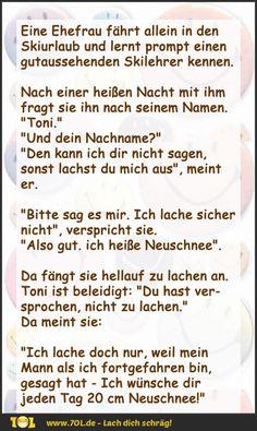 """Angenehm - """"Neuschnee""""! :)"""