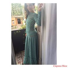 """Photo from album """"Giovana Dias"""" on Yandex. How To Purl Knit, Crochet Fashion, Beautiful Crochet, Knit Crochet, Knitwear, Crochet Patterns, Formal Dresses, How To Wear, Clothes"""