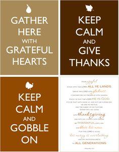 Free Keep Calm Thanksgiving Printables