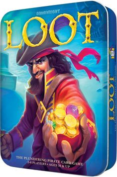 AmazonSmile: Gamewright Loot Deluxe Tin - The Plundering Pirate Card Game Card Game: Toys & Games