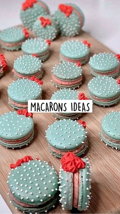 French Macaroon Recipes, French Desserts, Cute Desserts, Delicious Desserts, French Macaroons, Yummy Food, Fun Baking Recipes, Dessert Recipes, Baking Ideas