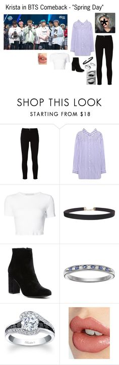 """""""Krista in BTS Comeback - """"Spring Day"""""""" by cbwilliams2002 on Polyvore featuring Frame, Balenciaga, Rosetta Getty, Humble Chic, Witchery, I Promise You and Charlotte Tilbury"""