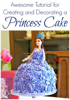 Awesome Tutorial for Creating and Decorating a Princess Cake! Perfect for planning a Princess Birthday Party on a Budget! // 3 Little Greenwoods