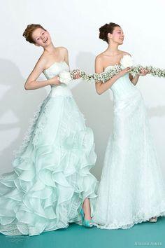 atelier aimee 2013 mint green wedding dresses