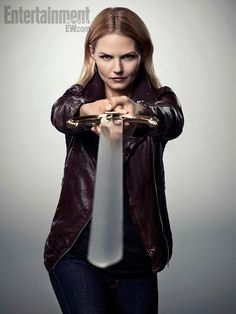 "Jennifer Morrison says;  ""You got a dragon?  Eff that!  I got a sword!"""