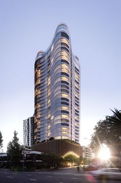Woods Bagot proposed tower in South Brisbane #architecture #render