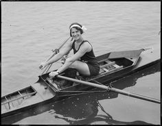 Rowing lady