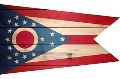 High Resolution Flag of Ohio Wood Texture
