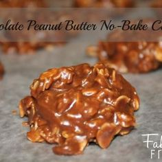 Chocolate Peanut Butter No-Bake Cookies