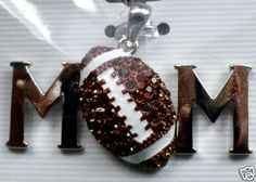 Football MOM Pendant Season Fashion Team Spirit Son - Player High School Pee Wee - Junior Varsity!! BAM!! FREE SHIPPING - BlingBlinky.com