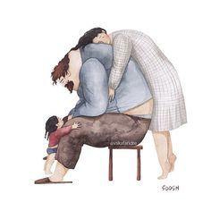 Dulces ilustraciones que muestran el tipo de padre que esta ilustradora ucraniana hubiera deseado