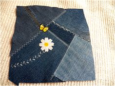 Art Threads: Wednesday Sewing - Denim Crazy Quilt