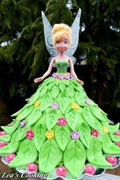 Tinkerbell Doll Cake ~ adorable! photo only for inspiration :)