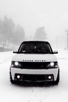Maybe my CEO future husband can buy me this? White Range Rover #swag