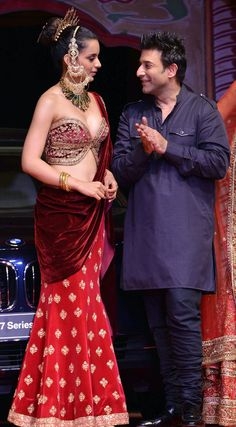 Queen #Kangana as ShowStopper for @SuneetvDesign http://www.SuneetVarma.in/ @ BMW @IndiaBridalWeek #IBFW2014