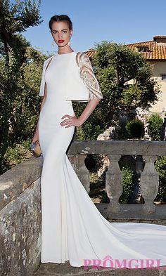 High Neck Gown with Bolero by Tarik Ediz at PromGirl.com