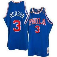 Mitchell   Ness Philadelphia Allen Iverson 50 Year Anniversary Throwback  Premium JerseyEmbroidered NBA logoMitchell   Ness Nostalgia Co. 24bb492ca