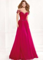 Cheap dress evening gowns, Buy Quality evening gown directly from China prom gown Suppliers: 2016 A-line Deep V-neck Floor Length Fuchsia Beaded Long Party Women Elegant Evening Dresses Evening Gown Prom Dresses Prom Gown Evening Dress Long, Formal Evening Dresses, Evening Gowns, Formal Gowns, Evening Party, Formal Wear, Prom Dress Stores, Homecoming Dresses, Tulle
