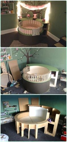 DIY circle crib instruction – DIY baby crib projects [Free Plans] – Baby room decoration – The World Baby Bedroom, Kids Bedroom, Baby Rooms, Nursery Room, Nursery Chairs, Bedroom Ideas, Bedroom Curtains, Baby Bedding, Nursery Bedding