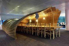Pupa Instalation Courtesy of Liam Hopkins, cardboard geodesic design