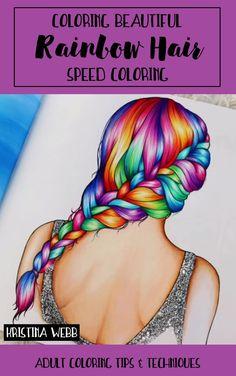 Coloring Beautiful Rainbow Hair
