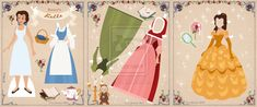 Belle Paper Doll by ~Cor104 on deviantART - She has creates free printable paper dolls!