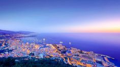 Sunset cities of the world | Monaco, Sunset, The Principality Of Monaco City