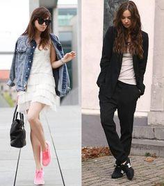 Scarpe da running abbinate ad un outfit elegante? E' proprio la tendenza di questo inverno!! Cosa ne pensate?