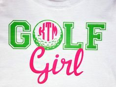 Monogram Girl Golf Vinyl Shirt