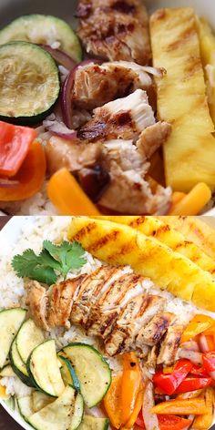 Teriyaki Bowl, Teriyaki Sauce, Teriyaki Chicken, Healthy Chicken Recipes, Easy Healthy Recipes, Easy Meals, Cooking Recipes, Italian Recipes, Mexican Food Recipes
