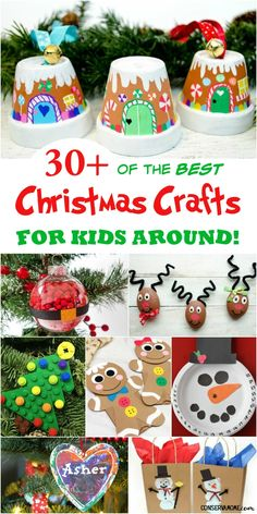 What better way to spend a snowy afternoon than creating fun Christmas crafts? From reindeer, Santa, and more, the kids will be delighted for the chance to make these fun and easy crafts! #christmascraftsforkids #craftsforkids #kidscrafts Christmas Countdown Crafts, Lego Christmas Tree, Rustic Christmas Ornaments, Christmas Crafts For Kids To Make, Diy Christmas Cards, Holiday Crafts, Christmas Recipes, Unicorn Christmas Ornament, Christmas Ideas