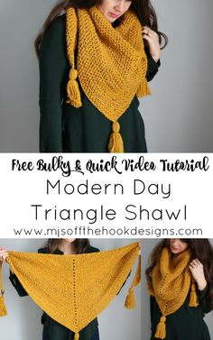 Quick Herringbone Stitch Crochet Shawl – MJ's off the Hook Designs Modern Day Shawl - free herringbone dc crochet shawl video by Sentry Box Designs. Busy mom of four and loving wife with a passion of luxury yarns and modern crochet. Arts And Crafts Ho Stitch Crochet, Crochet Baby, Crochet Stitches, Free Crochet, Knit Crochet, Shawl Crochet, Chunky Crochet Scarf, Crochet Shawls And Wraps, Crochet Scarves