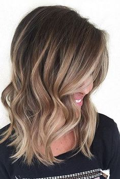 Blonde caramel highlights