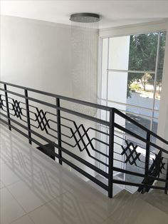 Deco art.     www.amazinggates.co.za Steel Railing Design, Railing Design, House Fence Design, Balcony Grill Design, House Gate Design, Staircase Railing Design, Stairway Design, Stair Railing Design, Balcony Design