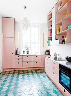 blush kitchen cabinets. / sfgirlbybay