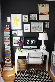 Parsons Desk in home of Editor @Alaina Kaczmarski