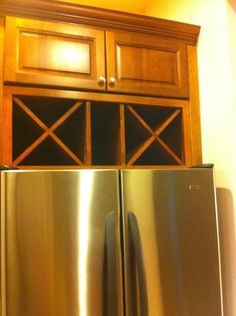 Find This Pin And More On Kitchen Renovation Ideas Over Fridge Wine Storage Cabinet