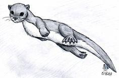 beautyful otter tattoo idea