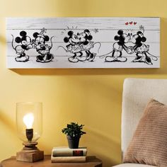 Mickey U0026 Minnie Canvas Art Print. Disney Room DecorationsDisney Wall ...