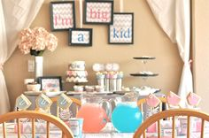 This is an adorable potty training party but could be adapted for a baby shower. Cute diaper toss game too.