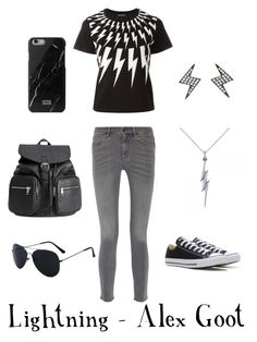 """Lightning"" by jeburd on Polyvore featuring M.i.h Jeans, Neil Barrett, Shay, Allurez, Converse and Native Union"