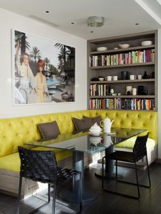 Banquette / smaller, but maybe built in one corner....?